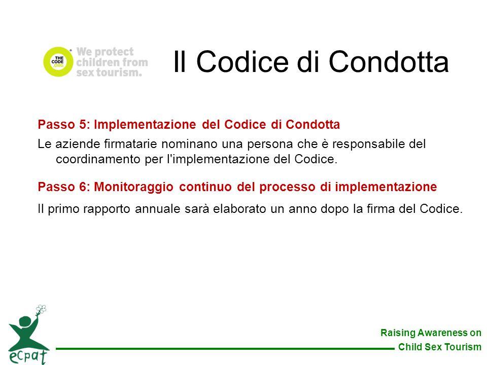 Il Codice di Condotta Passo 5: Implementazione del Codice di Condotta
