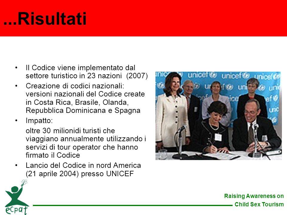 ...Risultati Il Codice viene implementato dal settore turistico in 23 nazioni (2007)