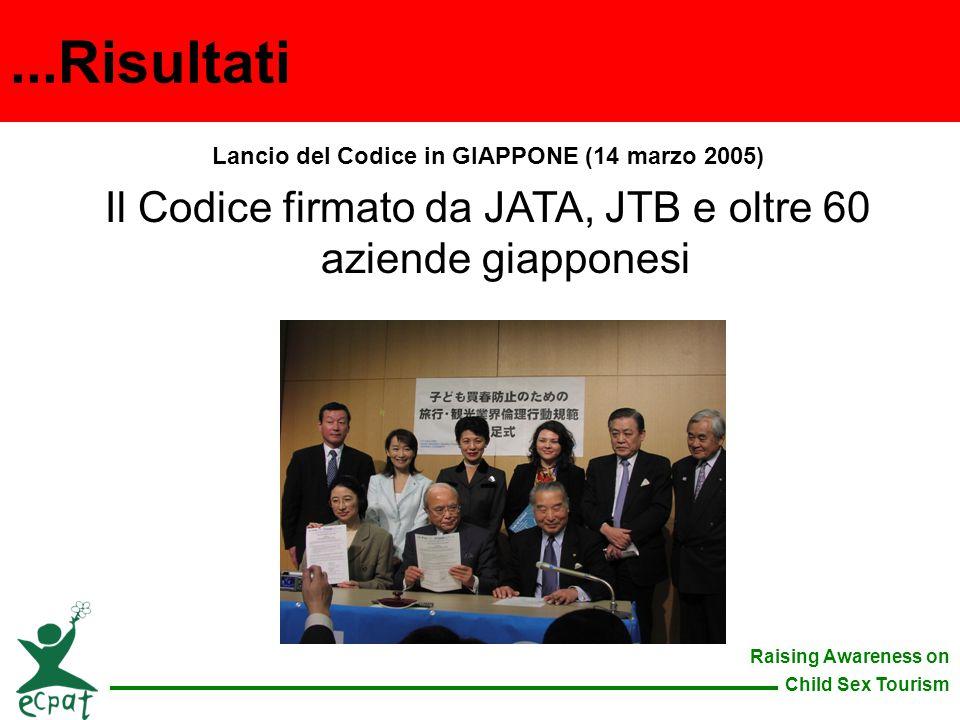 Lancio del Codice in GIAPPONE (14 marzo 2005)