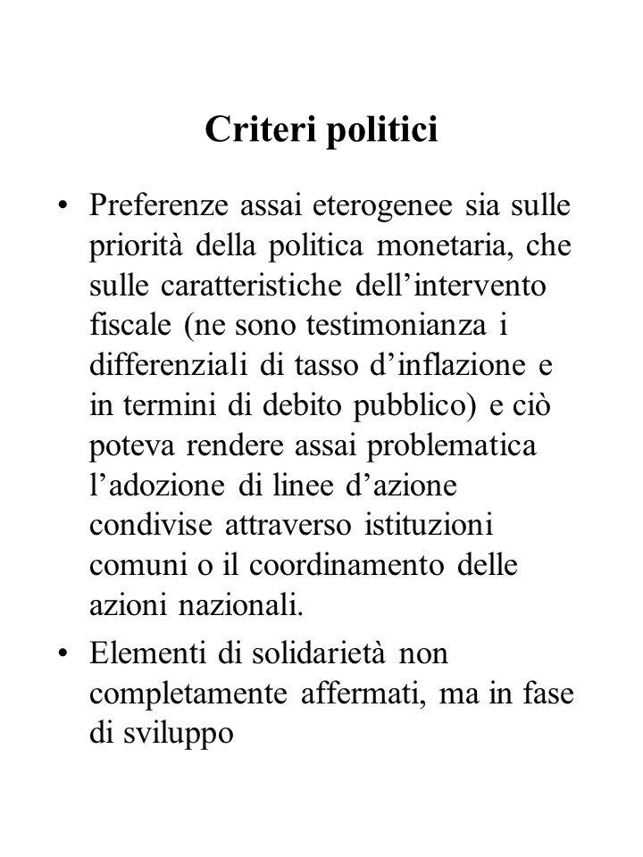 Criteri politici