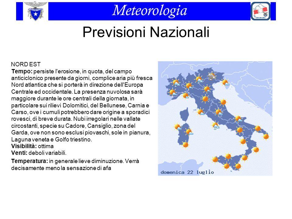 Previsioni Nazionali