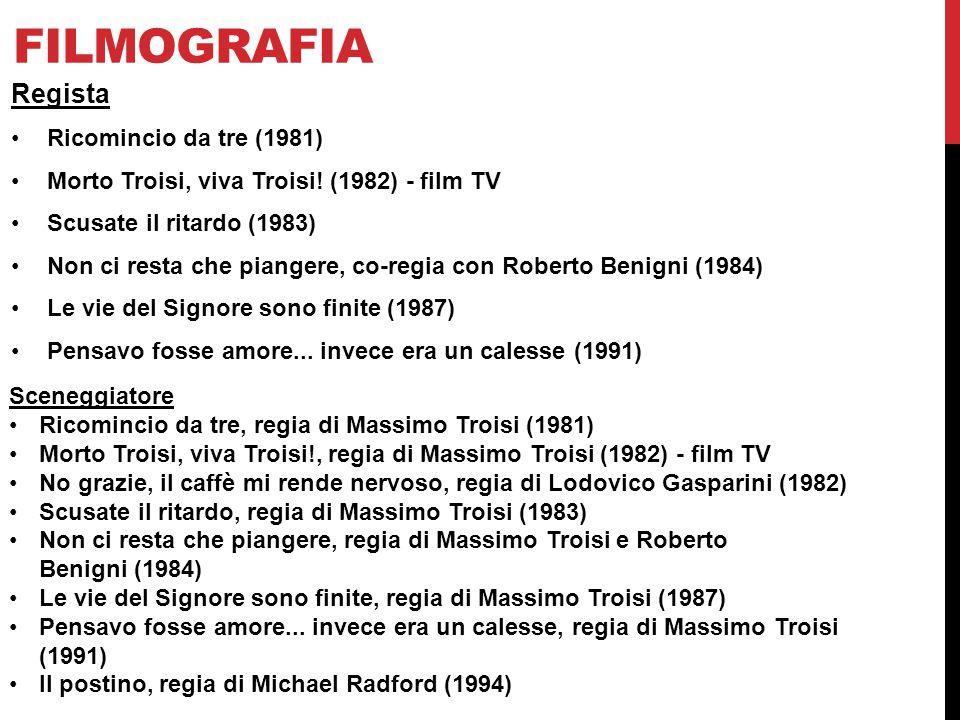 Filmografia Regista Ricomincio da tre (1981)