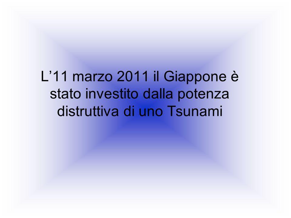 L'11 marzo 2011 il Giappone è stato investito dalla potenza distruttiva di uno Tsunami