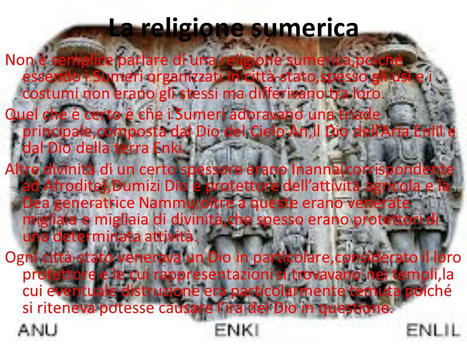 La religione sumerica