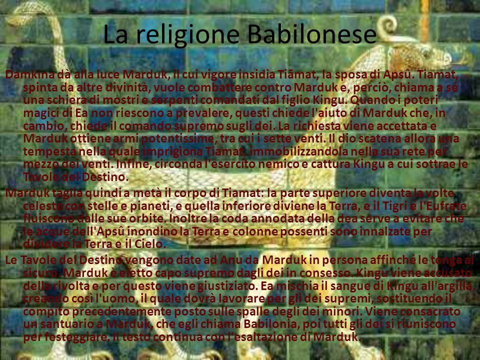La religione Babilonese