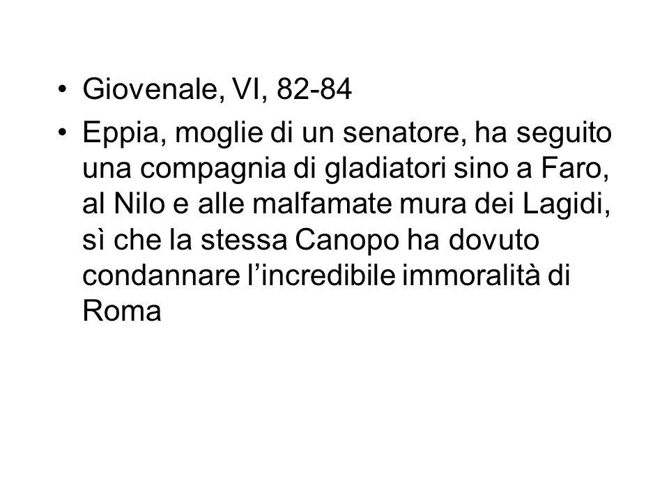 Giovenale, VI, 82-84