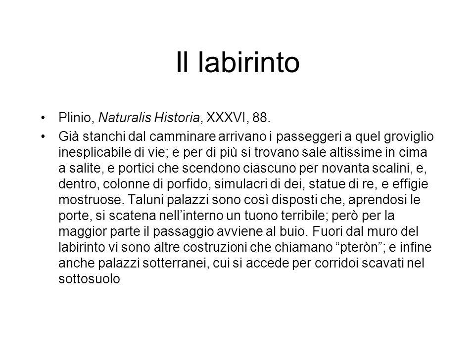 Il labirinto Plinio, Naturalis Historia, XXXVI, 88.