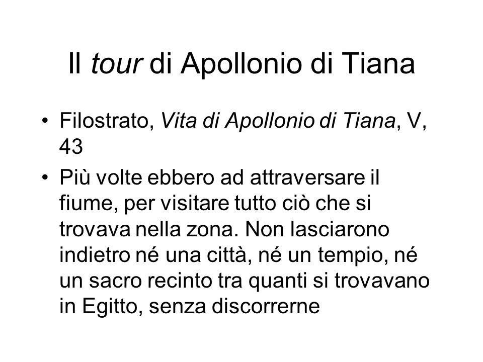 Il tour di Apollonio di Tiana