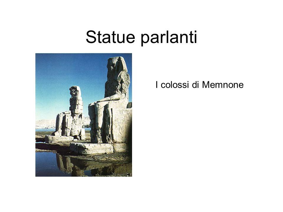 Statue parlanti I colossi di Memnone