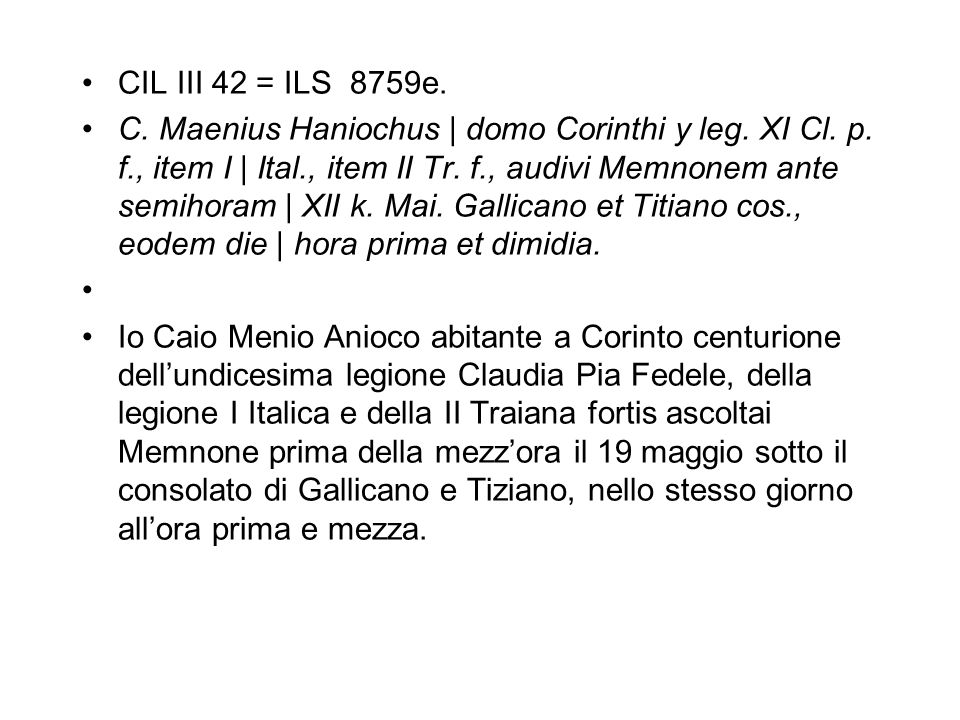 CIL III 42 = ILS 8759e.