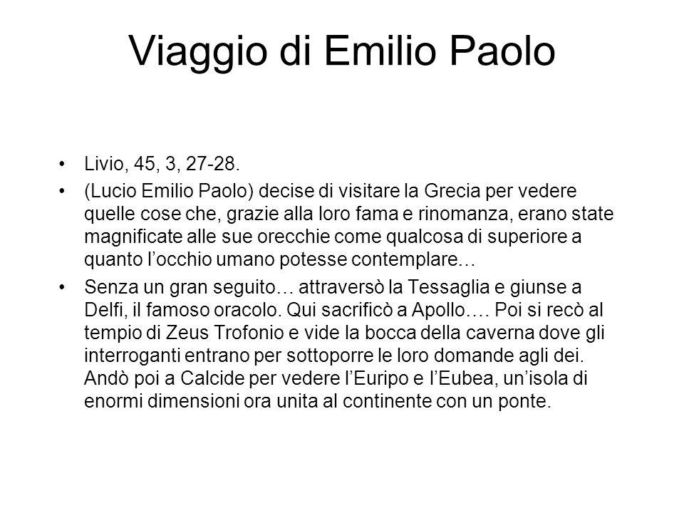 Viaggio di Emilio Paolo