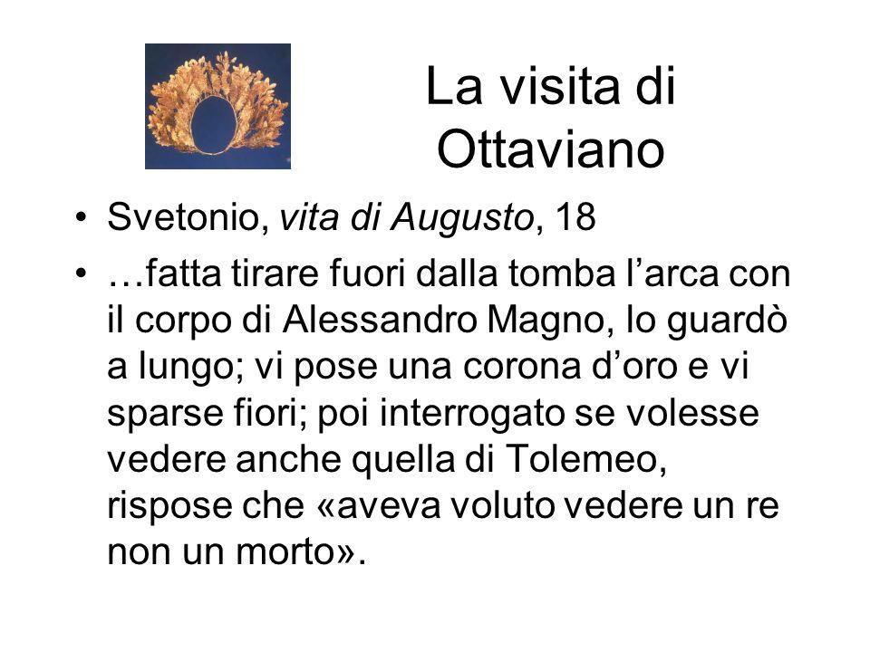 La visita di Ottaviano Svetonio, vita di Augusto, 18