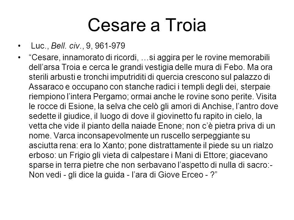 Cesare a Troia Luc., Bell. civ., 9, 961-979