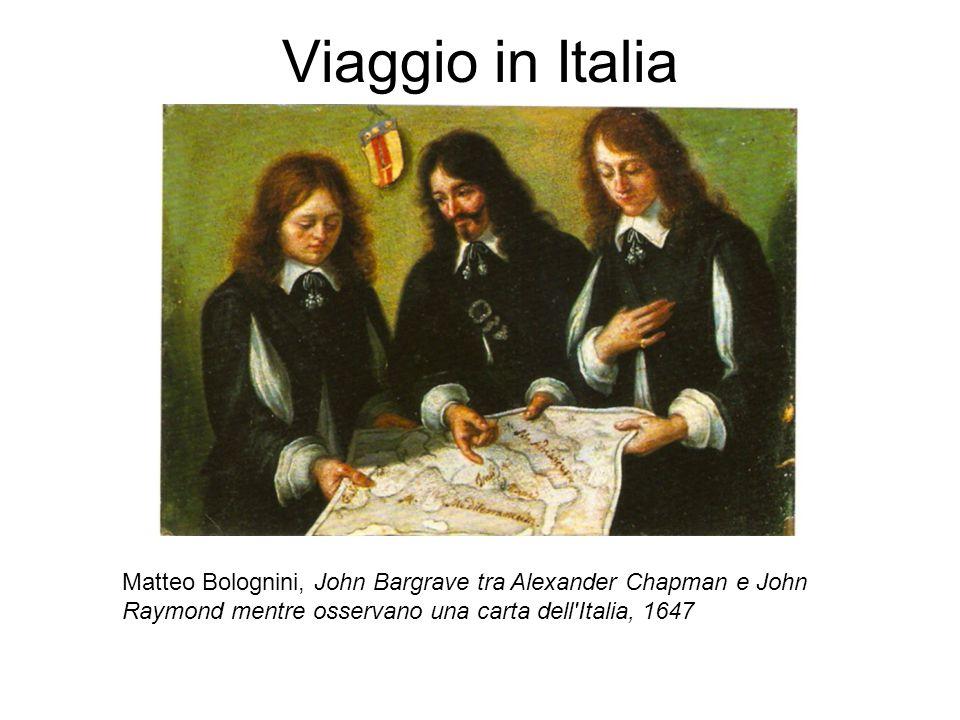 Viaggio in Italia Matteo Bolognini, John Bargrave tra Alexander Chapman e John Raymond mentre osservano una carta dell Italia, 1647.