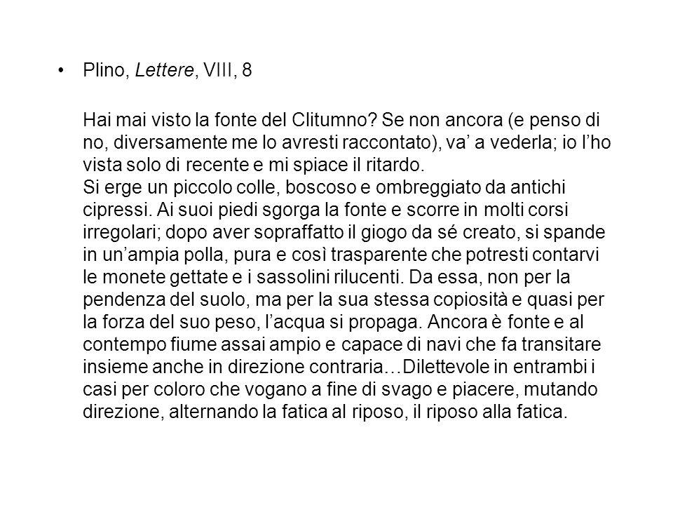 Plino, Lettere, VIII, 8