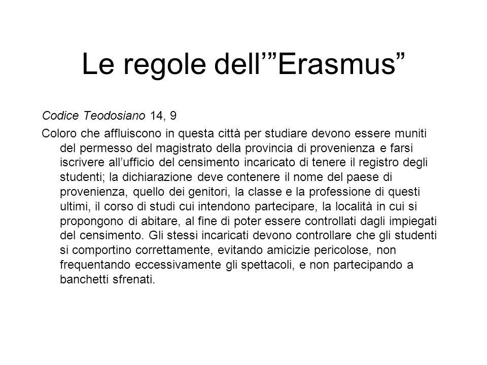 Le regole dell' Erasmus