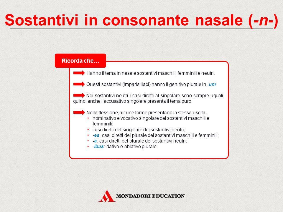 Sostantivi in consonante nasale (-n-)