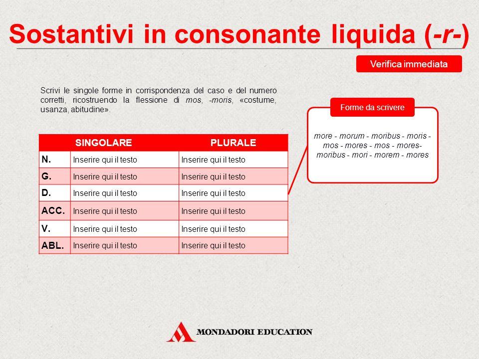 Sostantivi in consonante liquida (-r-)