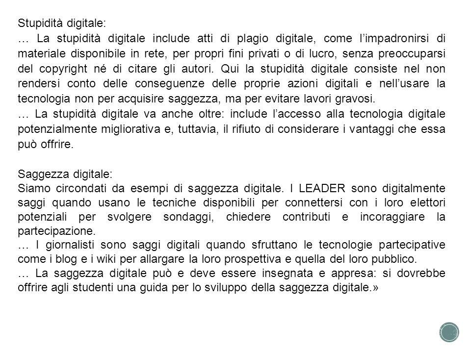 Stupidità digitale: