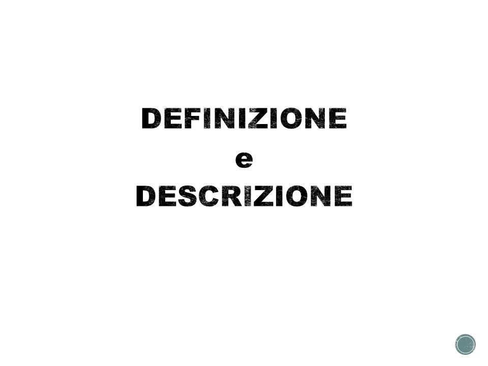 DEFINIZIONE e DESCRIZIONE