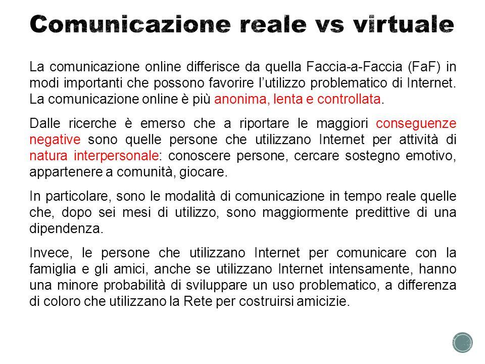 Comunicazione reale vs virtuale