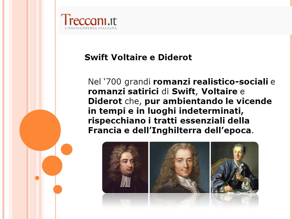 Swift Voltaire e Diderot