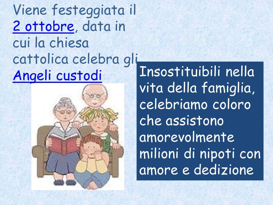 Viene festeggiata il 2 ottobre, data in cui la chiesa cattolica celebra gli Angeli custodi