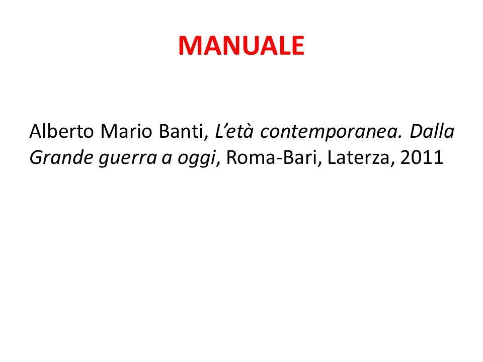 MANUALE Alberto Mario Banti, L'età contemporanea.