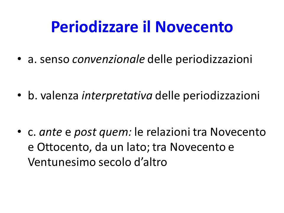 Periodizzare il Novecento
