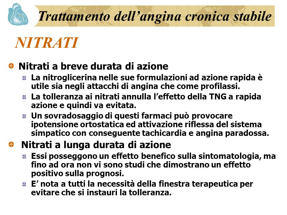 Trattamento dell'angina cronica stabile