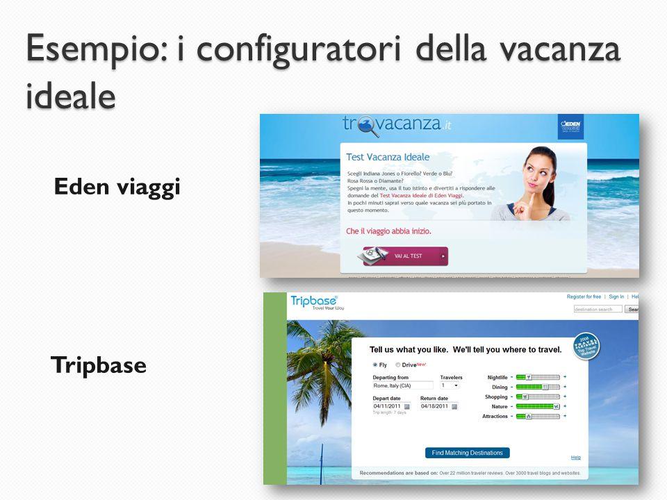 Esempio: i configuratori della vacanza ideale