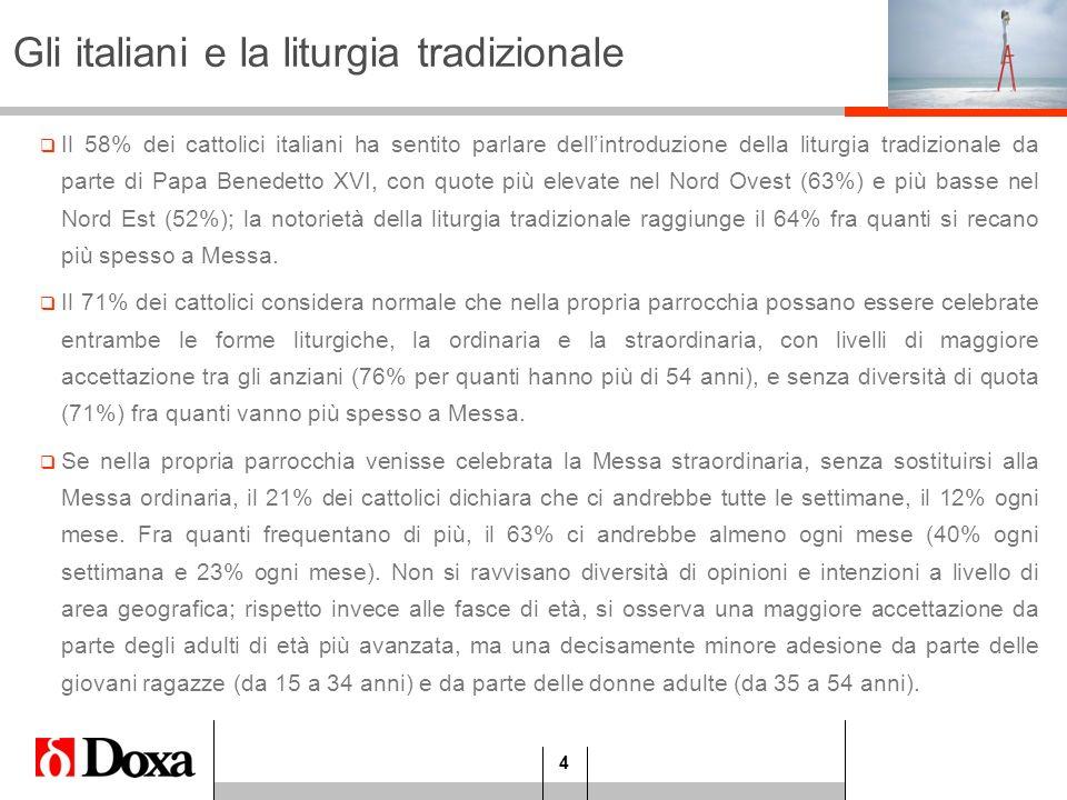 Gli italiani e la liturgia tradizionale