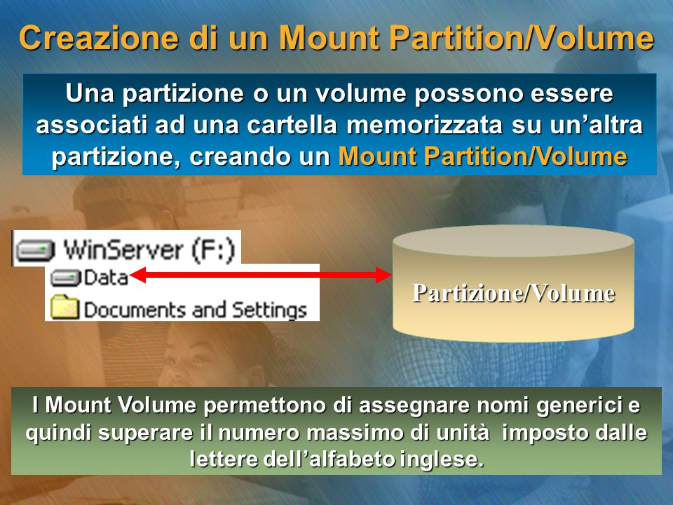Creazione di un Mount Partition/Volume