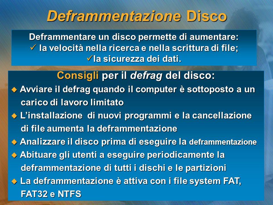 Deframmentazione Disco