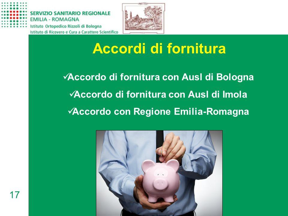 Accordi di fornitura Accordo di fornitura con Ausl di Bologna