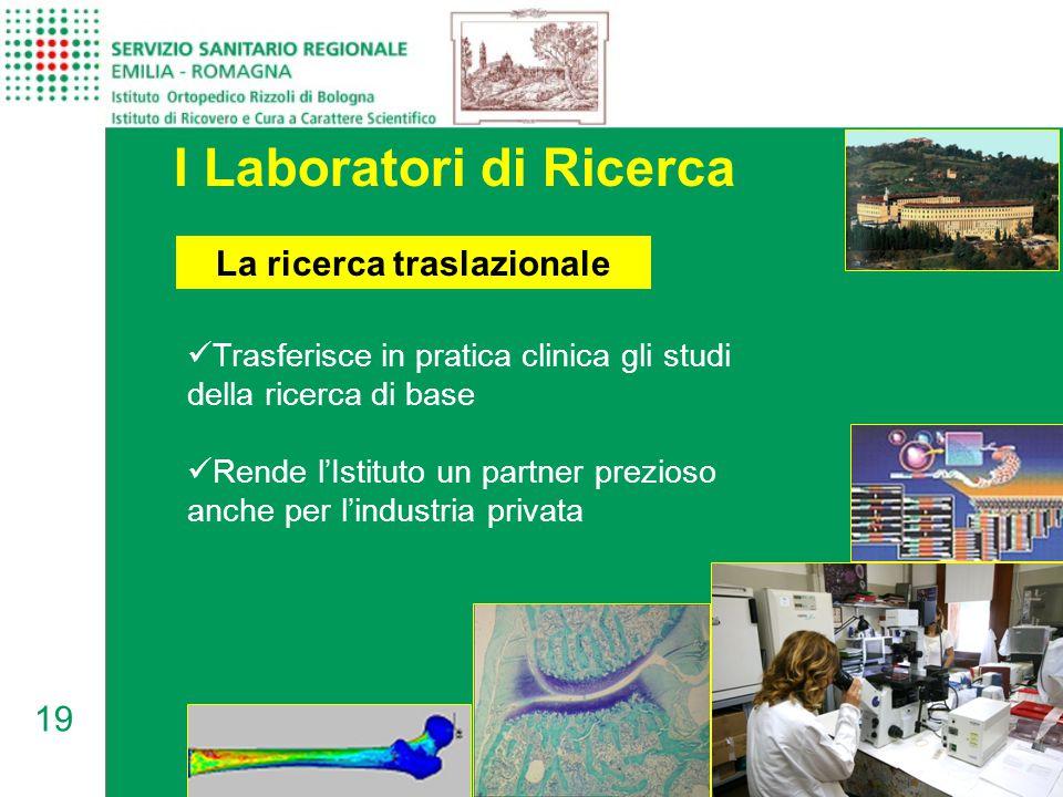 I Laboratori di Ricerca La ricerca traslazionale