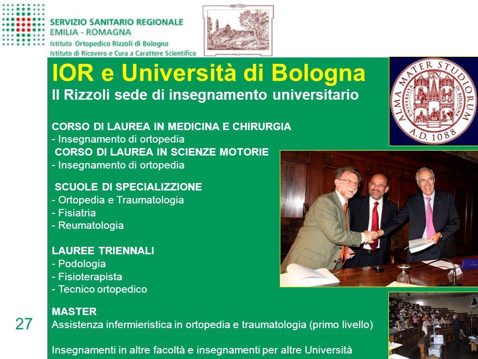 IOR e Università di Bologna