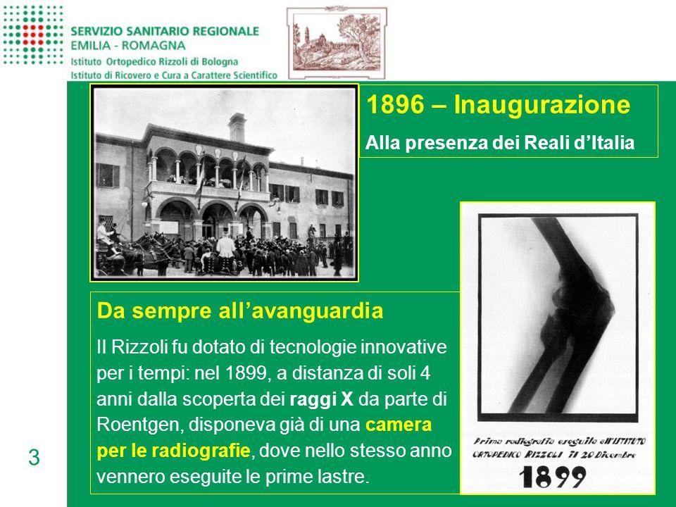 1896 – Inaugurazione Da sempre all'avanguardia