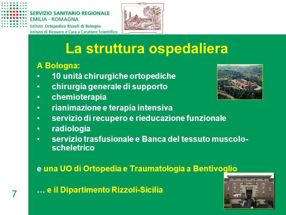 La struttura ospedaliera