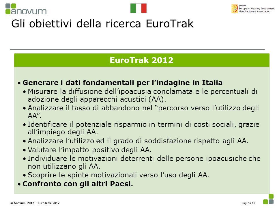 Gli obiettivi della ricerca EuroTrak