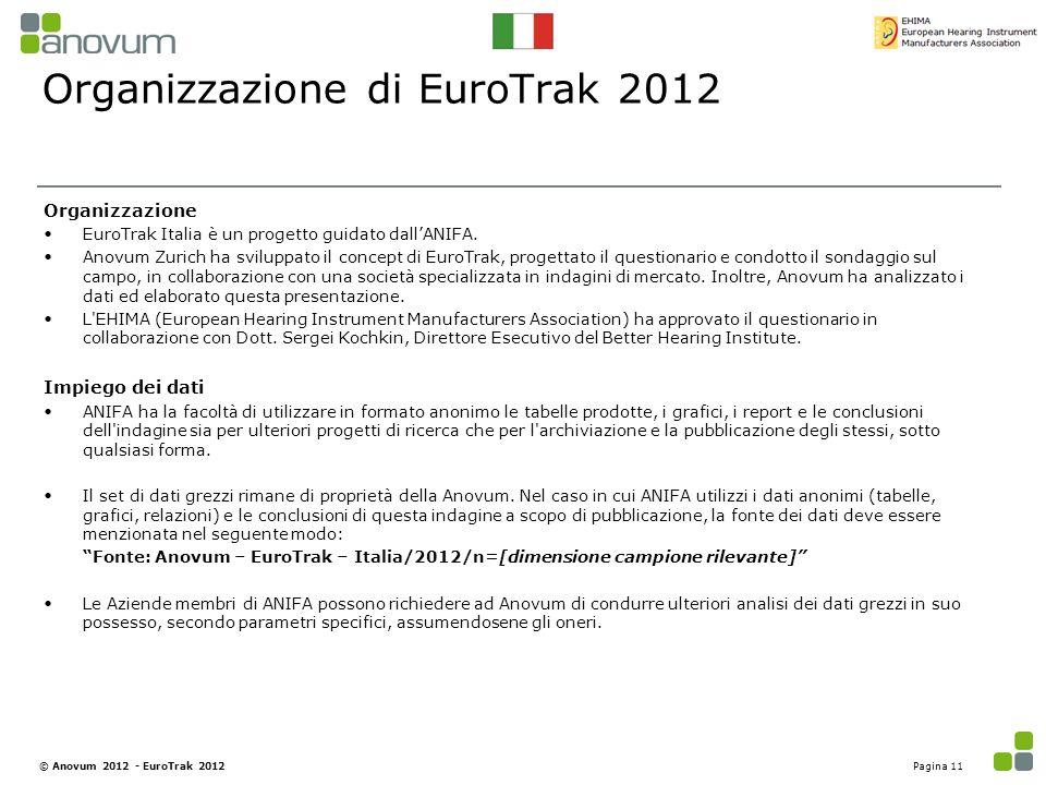 Organizzazione di EuroTrak 2012