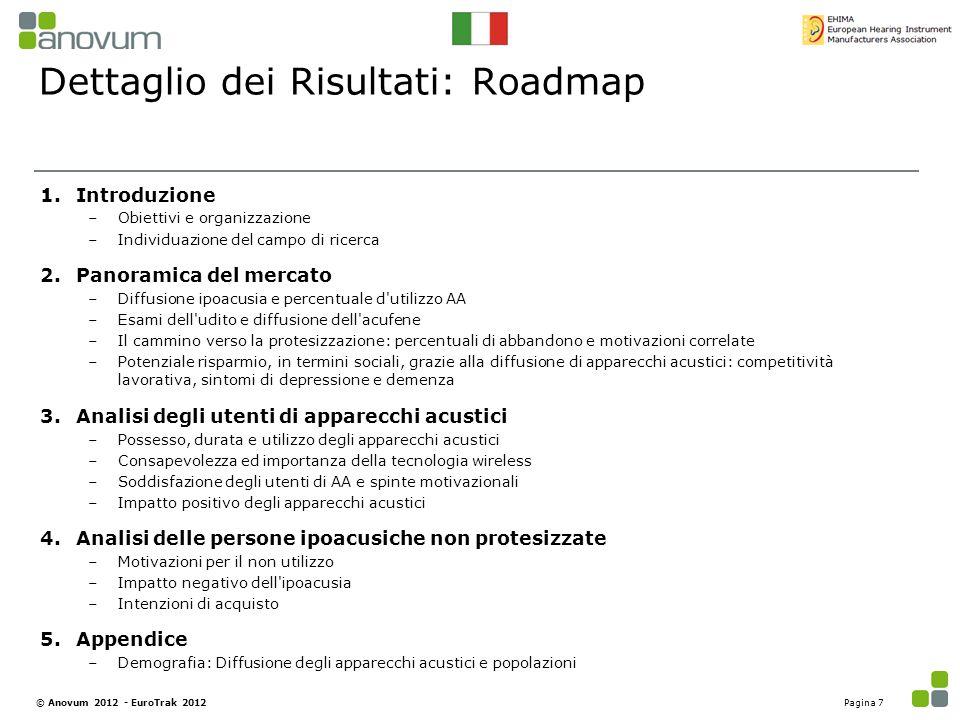 Dettaglio dei Risultati: Roadmap