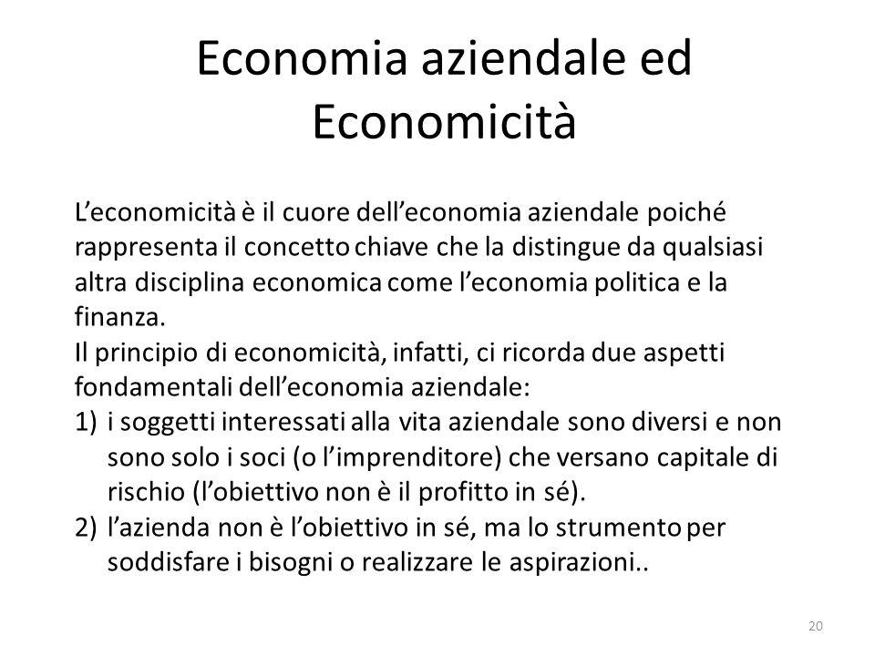 Economia aziendale ed Economicità