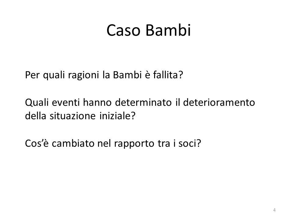 Caso Bambi Per quali ragioni la Bambi è fallita