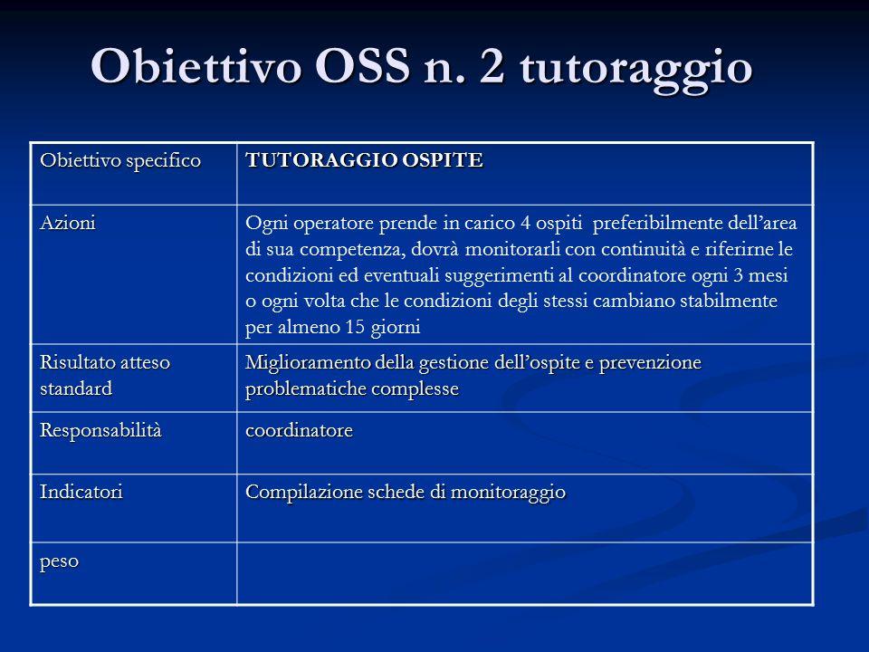 Obiettivo OSS n. 2 tutoraggio