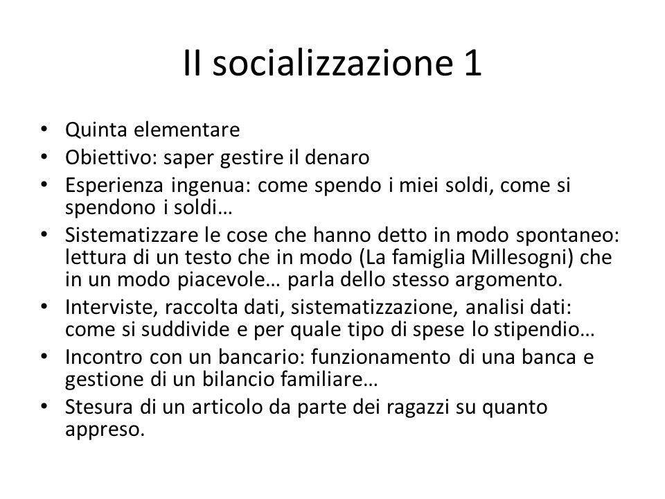 II socializzazione 1 Quinta elementare