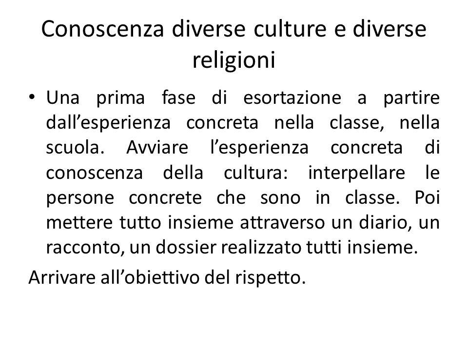 Conoscenza diverse culture e diverse religioni