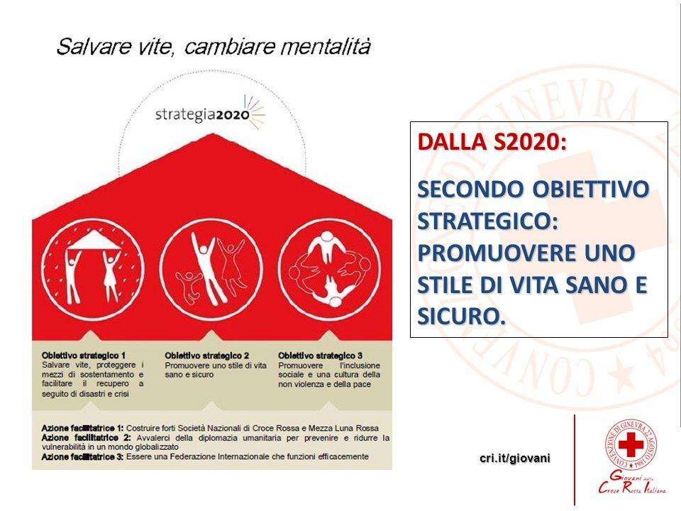 DALLA S2020: SECONDO OBIETTIVO STRATEGICO: PROMUOVERE UNO STILE DI VITA SANO E SICURO.