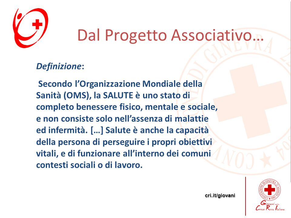 Dal Progetto Associativo…