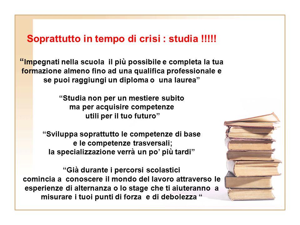 Soprattutto in tempo di crisi : studia !!!!!